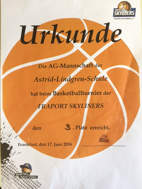 Urkunde Basketball